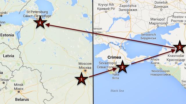 june 2016 trip map