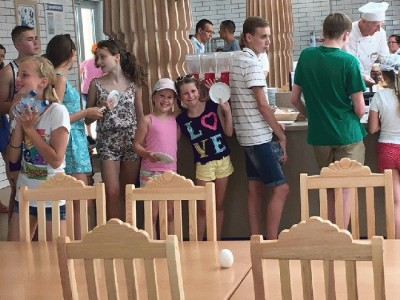 Russian kids attending a youth camp called Artek in Crimea.