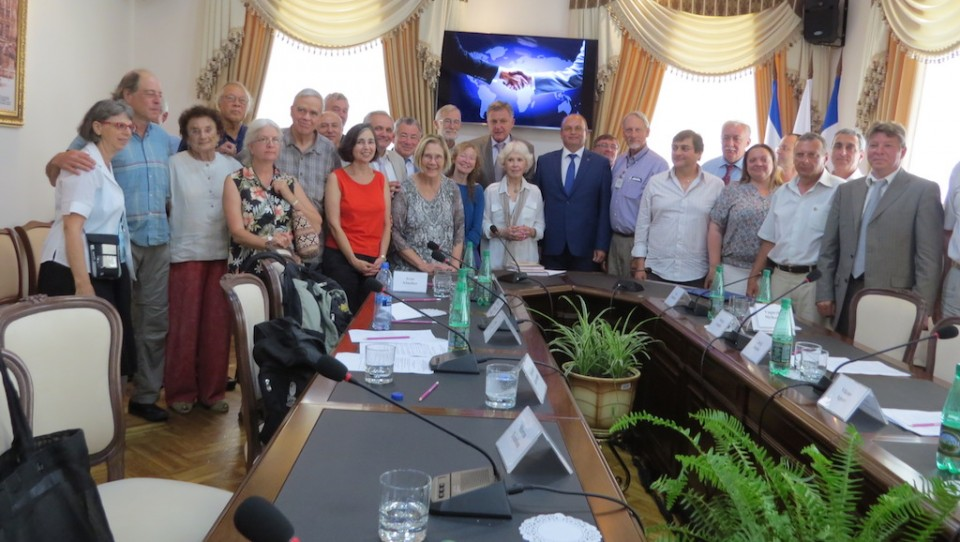 Our group meets with local government and NGO representatives in Simferopol, Crimea.